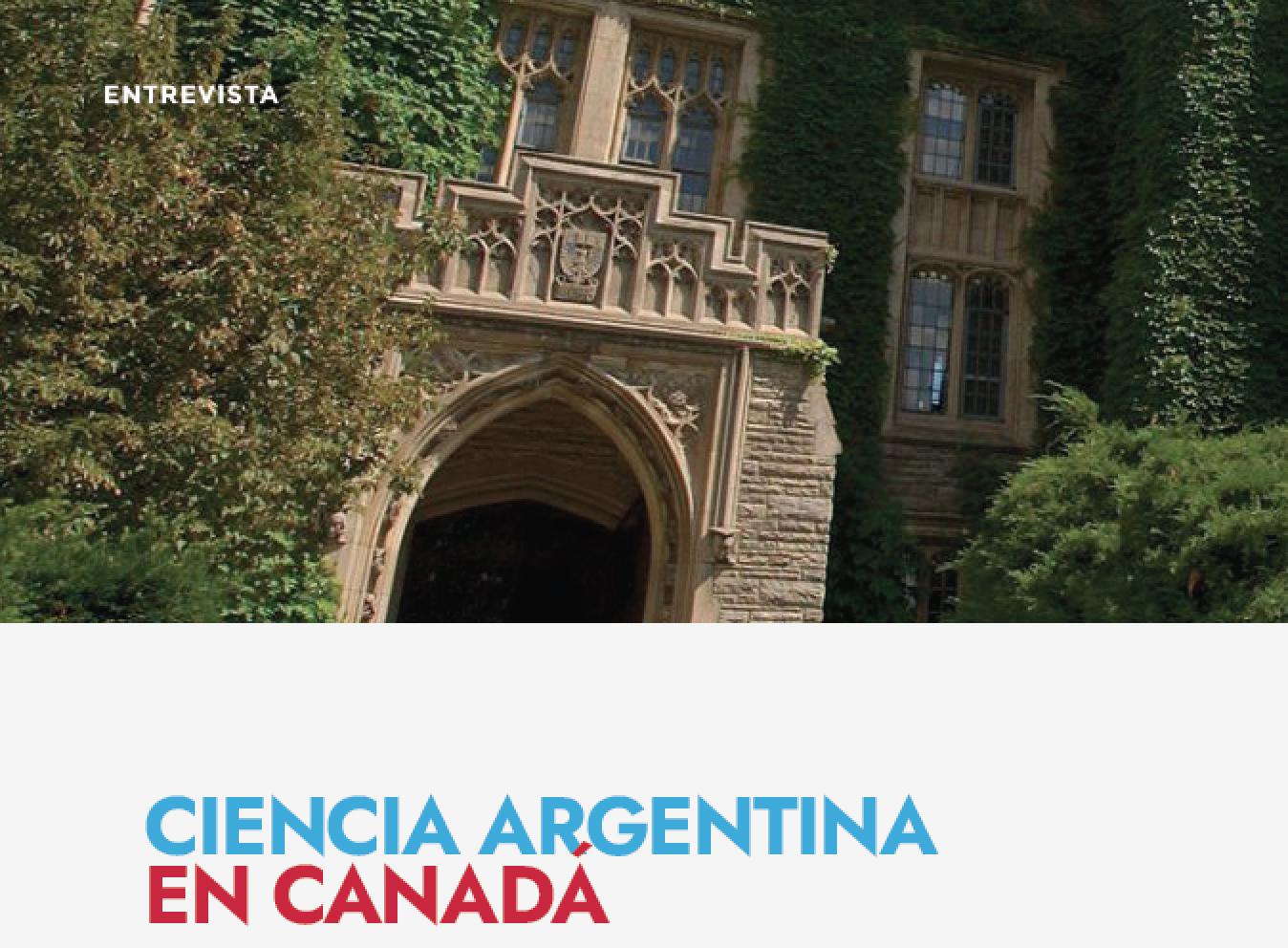 Ciencia Argentina en Canadá.  Entrevista con la Dra. María Inés Pinto-Sánchez