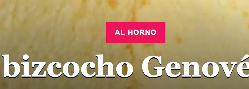 Bizcocho Genovés